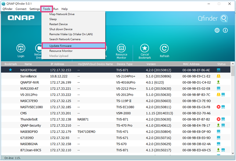 How do I search and manage QNAP NAS using Qfinder Pro? - QNAP (US)